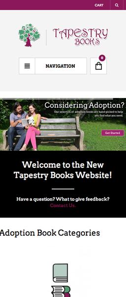 Nicole Tartaglia Tapestry Books Website