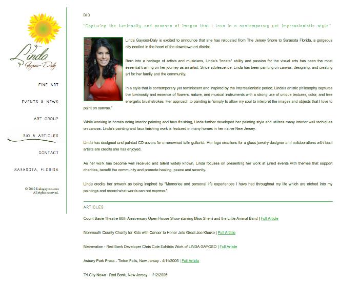 Nicole Tartaglia Linda Daly Website